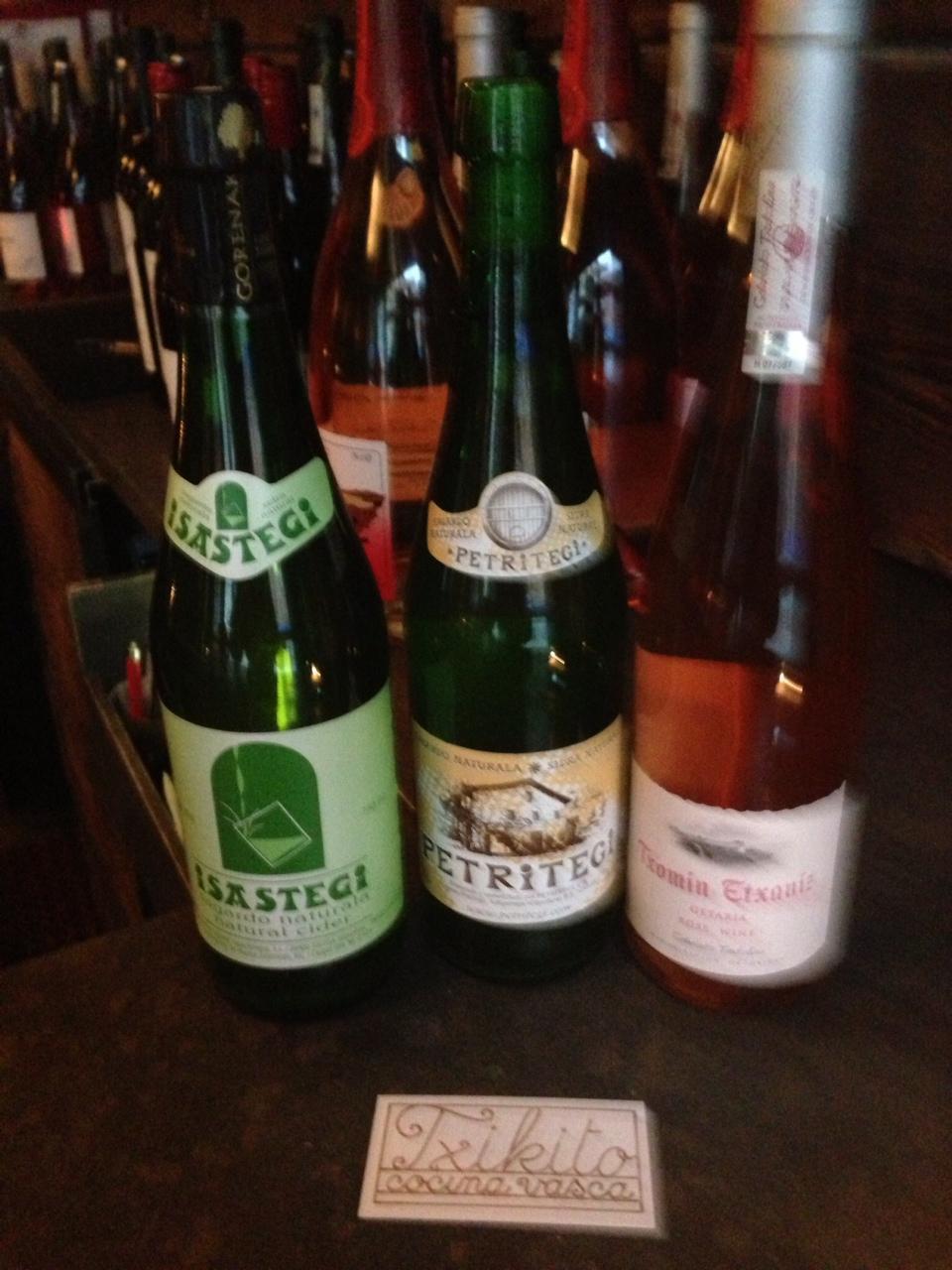 NYC's Txikito serves a variety of  Basque wines