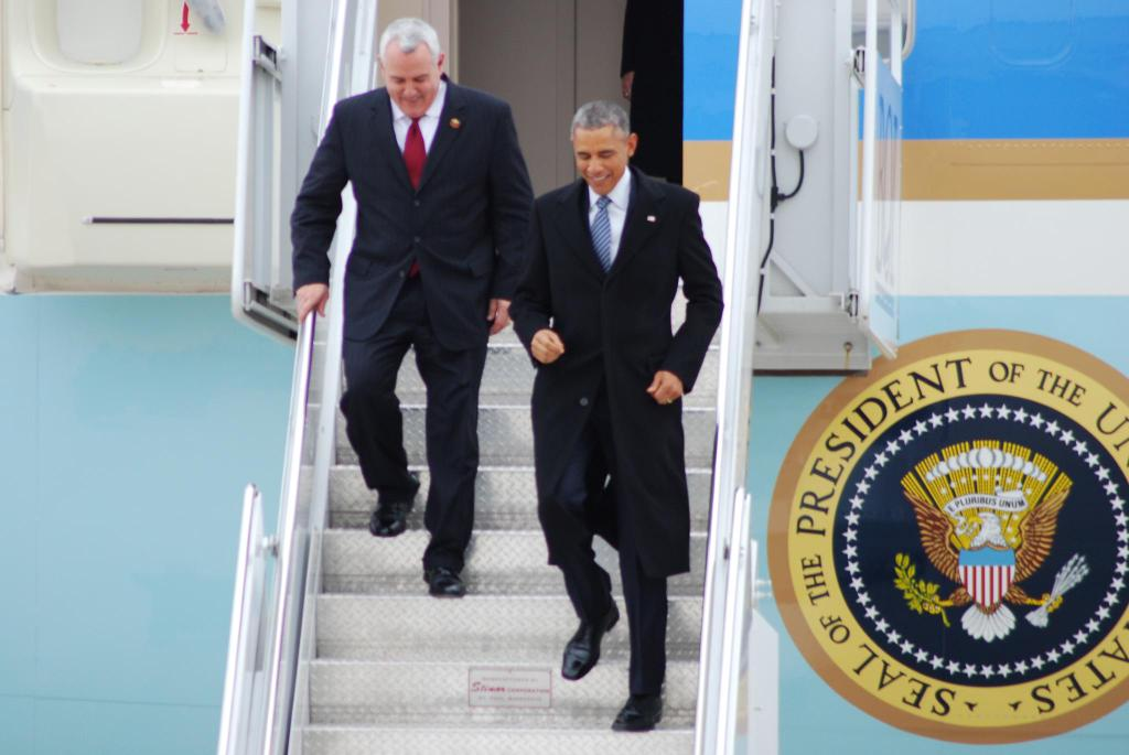 President Obama and Boise Mayor Dave Bieter