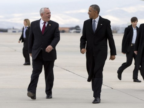 Pres. Obama and Boise Mayor Dave Bieter. AP Photo/Carolyn Kaster