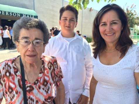 The Berterretche family: Monique Berterretche, grandson Anthony LaFrance and Bernadette Helton