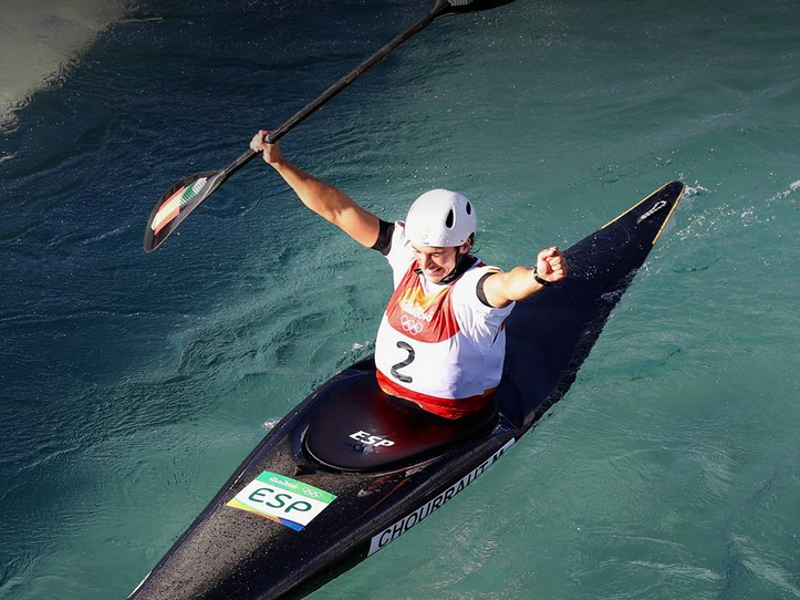 Maialen+Chourraut+came+in+first+in+the++women%27s+canoe+slalom.