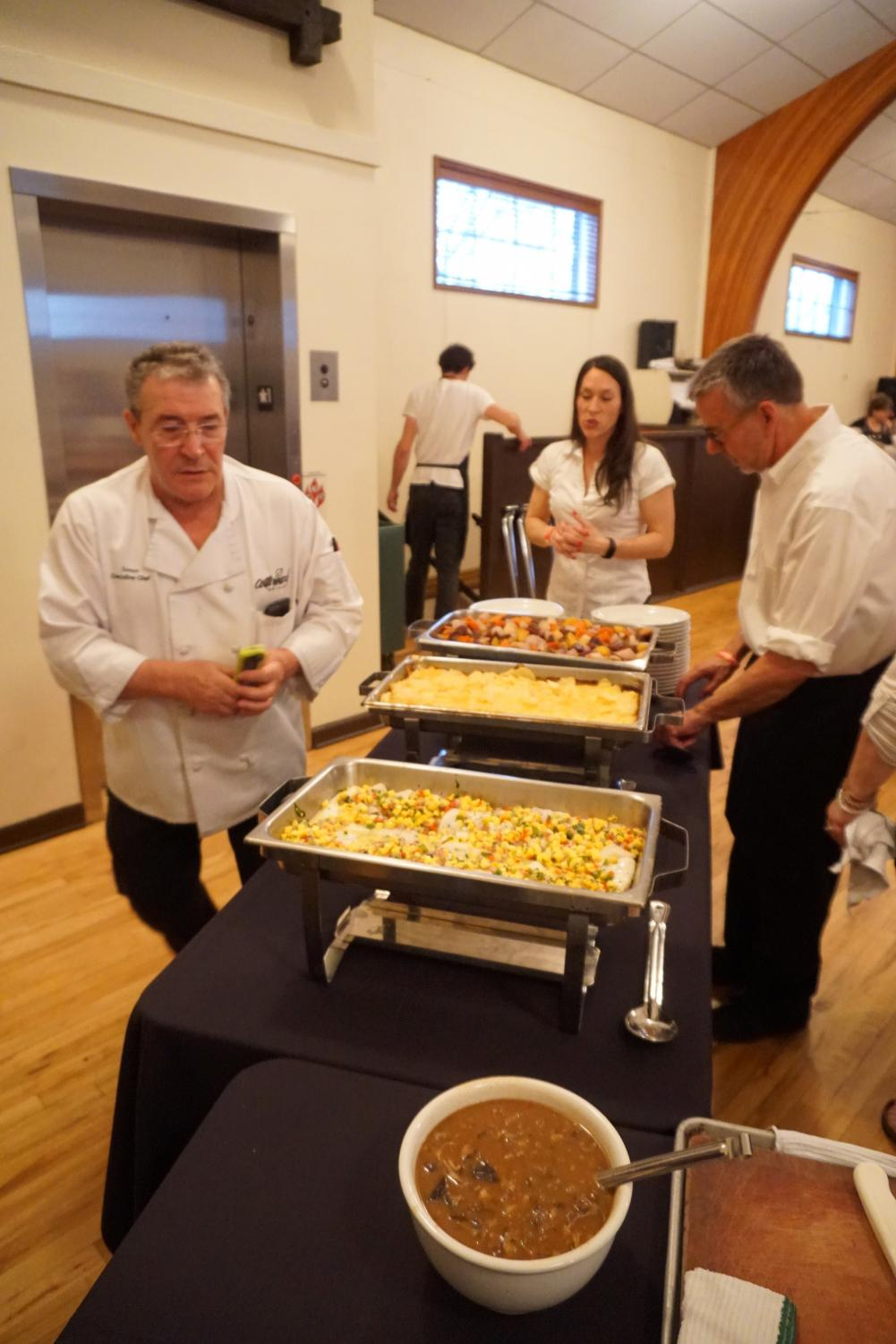 Chef Jesus Alcelay leads the kitchen for Basque Museum Fundraising Dinner.