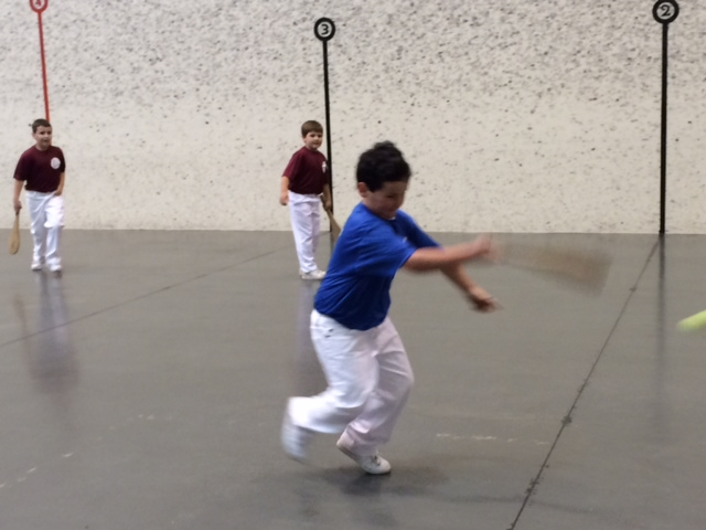 Youngsters+learn+pala+at+the+Basque+Cultural+Center+fronton.
