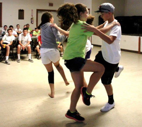 Campers learn traditional dances at Udaleku in Elko. (Lisa Corcostegui)