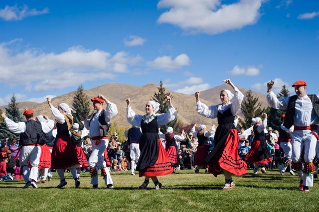Oinkari dancers at the Trailing of the Sheep Festival.