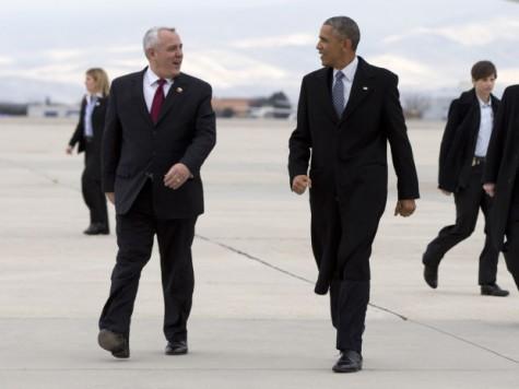 Pres. Obama and Boise Mayor Dave Bieter. AP Photo/Carolyn Kaster