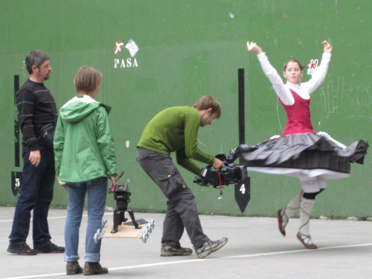 Director Emily Lobsenz and crew filming