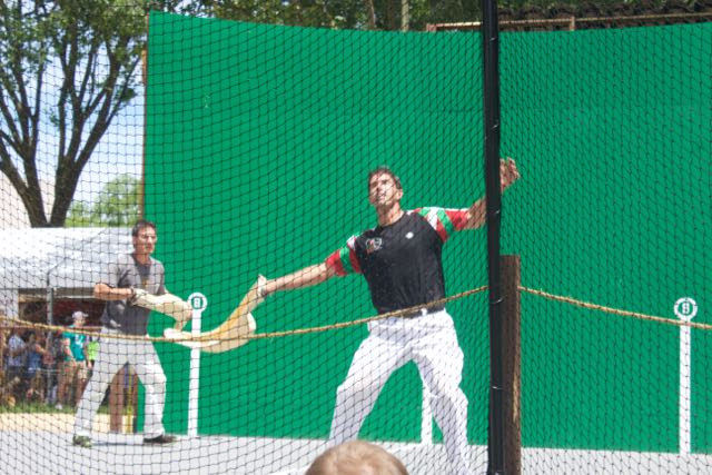 New+England+players+demonstrate+jai+alai.+Riki+Lasa+%28front%29+was+a+professional+jai+alai+player.
